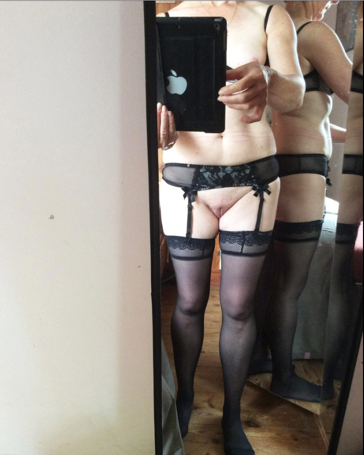 Femme mature en lingerie